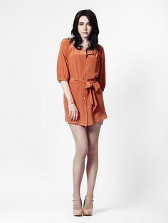 Phelps Dress in Harvest Silk by LEONA