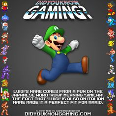 Why Luigi is named Luigi.  That is great.