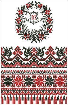 Скачать схемы вышивки крестом и бисером Border Embroidery Designs, Cross Stitch Embroidery, Embroidery Patterns, Hand Embroidery, Cross Stitch Borders, Cross Stitch Flowers, Cross Stitch Patterns, American Quilt, Yarn Thread