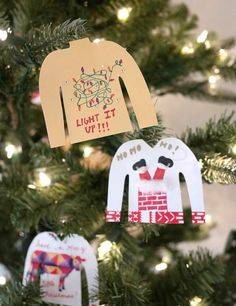 $1 Sweater Ugly Ornaments - Love these dollar store crafts!