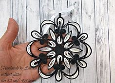 size 12cm/4.8 inches(approx) The price is for one piece. Without glitter. Decorative handmade Christmas stars in quilling technique. You can hang them up on any holder as decoration; they can make a wonderful gift for special and different occasions. They can be hanged up in the