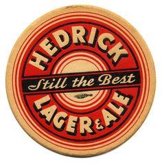 Hedrick Lager & Ale Coaster,  Hedrick Brewing Co.,  Albany, NY