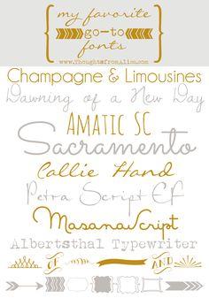 My Favorite Go-To Fonts – Alice Wingerden Handwriting Fonts, Script Fonts, Typography Fonts, Typography Design, Hand Lettering, Creative Lettering, Find Fonts, New Fonts, Font Sites