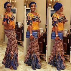 Smart Ankara Styles Long Skirt and Blouse http://www.dezangozone.com/2016/05/smart-ankara-styles-long-skirt-and.html