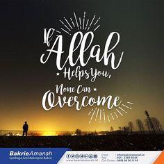 Jika Allâh menolong kamu, maka tak adalah orang yang dapat mengalahkan kamu; jika Allâh membiarkan kamu (tidak memberi pertolongan), maka siapakah gerangan yang dapat menolong kamu (selain) dari Allâh sesudah itu? Karena itu hendaklah kepada Allâh saja orang-orang mu'min bertawakkal. Qs.3:160    #bakrie  #bakrieamanah  #bakrieuntuknegeri  #quotes  #ayat  #quran  #hadits  #islamicquotes  #allahwithus