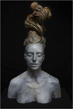 Gabriel Moreno #tattooed #figurative #bronze #sculpture #art