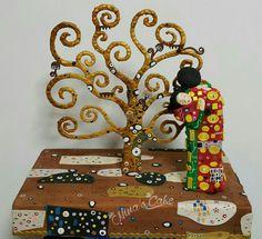 l'albero della vita di Gustav Klimt - Nina's Cake #cakedesign #arte #cakedesignitalia #sugarart