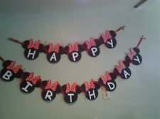 Minnie Mouse Banner with Red Polka Dot Bows