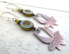 Desert Blossom Earrings // copper primitive by LostSparrowJewelry, $22.00