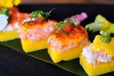 "Picca: a Peruvian Cantina, ""chef Ricardo Zarate serves modern Peruvian cuisine with Japanese flair""  Pictured: spicy tuna causa sushi"