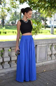 make it fancy by adding a statement necklace, heels, and a chic updo