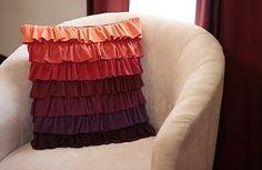 DIY ruffled pillow
