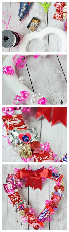 How to Make a Valentine's Candy Wreath