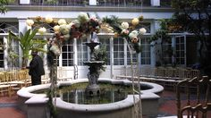 For the Platz/Vallone wedding in the courtyard of the Royal Sonesta Hotel, New Orleans