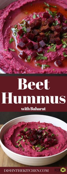 Baharat Roasted Beet Hummus is a great tasting vegan/gluten free snack easily made with common ingredients and spices you have on hand. Make your own Baharat spice blend or adjust using your favourite spices. Great Appetizers, Healthy Appetizers, Appetizer Recipes, Snack Recipes, Healthy Dips, Healthy Side Dishes, Side Dish Recipes, Easy Recipes, Savory Sauce Recipe