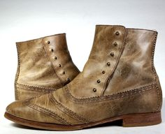 COLE HAAN BOOTS 9 Distressed 1900's Style Ankle Boots *EXCELLENT* Womens 9 | eBay