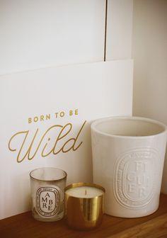 """ideia de quardro """"Born to be wild"""" dourado"""