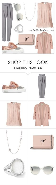 """Embellished sneakers"" by claudialogan ❤ liked on Polyvore featuring Miu Miu, Phase Eight, Jason Wu, River Island, Chanel, Giuseppe Zanotti, Ippolita and Ray-Ban"