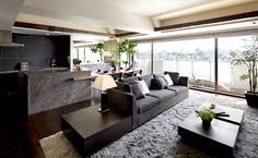 """""""ROOTS""""atルクラス本駒込の販売情報です。R100 TOKYOは、都心の緑豊かな低層の高級住宅街に佇む、100平米超の確かな資産価値を備えたマンションを厳選。理想の住まいをオーダーできるサービス。限定物件情報をメールでお送りしております。 Home Room Design, Home Interior Design, Living Room Designs, Interior Decorating, House Design, Apartment Interior, Living Room Interior, Japanese Home Decor, Space Interiors"""