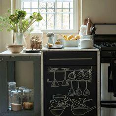 De lunes a domingo: 12 ideas para incorporar pintura de pizarra en tu cocina