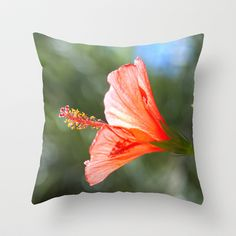 #Red #Hibiscus Throw Pillow by Design Windmill - $20.00