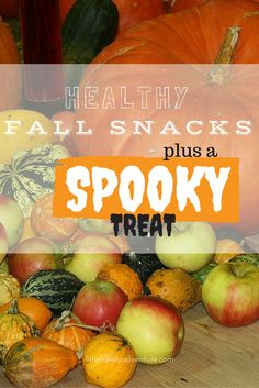 Apples, pumpkin, and cinnamon are all flavors that scream Autumn! These healthy snacks for fall feature those flavors, plus there's a a bonus spooky recipe