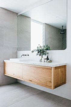 Minimal Bathroom, Modern Bathroom Design, Bathroom Interior, Contemporary Bathrooms, Bathroom Designs, Floating Bathroom Vanities, Small Bathroom, Bathroom Ideas, Bathroom Faucets
