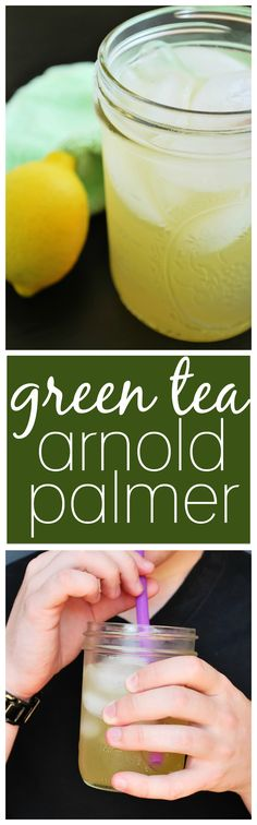 Green Tea Arnold Palmer: A refreshing and naturally-sweetened summertime drink is only three ingredients away! || fooduzzi.com