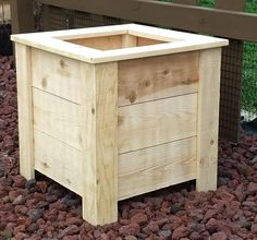 Rustic Cedar Planter Box How you can get access to the world's largest database of. Square Planter Boxes, Planter Box Plans, Cedar Planter Box, Garden Planter Boxes, Wood Pallet Planters, Rustic Planters, Diy Planters, Rustic Outdoor Furniture, Antique Furniture