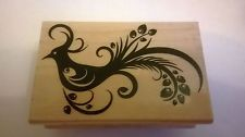 Ornate bird flourish wooden stamp by Hero Arts - new