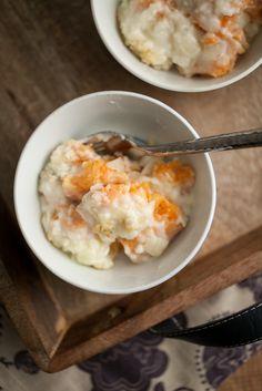 Sweet Potato Gnocchi Mac and Blue Cheese