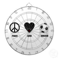 Peace Love Soccer Dartboard