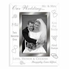 Clear Expressions Wedding Personalized Keepsake