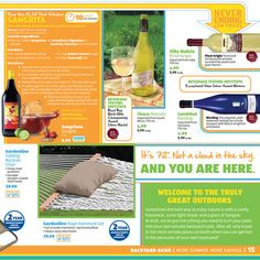 More Summer. More Savings with ALDI. It's 72 degrees. Not a cloud in the sky. Oasis, Backyard, Clouds, Sky, Fruit, Summer, Food, Heaven, Patio