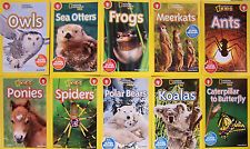 NATIONAL GEOGRAPHIC KIDS READER Level 1 Ants, Butterfly,Frog,Owls,Ponies,Bears