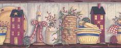 Country Cupboard Wallpaper Border AAI08033B