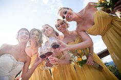 This a great shot! Nothing like a little vino on your wedding day =)