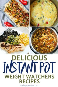 I'm all about the Instant Pot Weight Watchers Recipes, as you know. Check back often because this post is updated on a regular basis! 🙂 Remember: WW is a lifestyle, not a diet. You can eat whatever you want, within. Weight Watcher Dinners, Plats Weight Watchers, Weight Watchers Breakfast, Weight Watchers Chicken, Weight Watchers Appetizers, Weight Watchers Freezer Meals, Weight Watchers Salad, Ww Recipes, Cooking Recipes