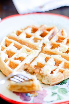 Easy and Fluffy Belgian Waffles - Something Swanky