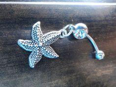 Starfish Belly Button Ring Belly Piercing by MidnightsMojo on Etsy. $13.00, via Etsy.