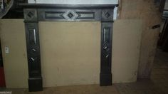 original cast iron fireplace mantel/surround, ideal for a stove/wood burner