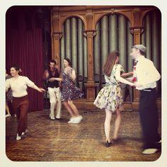 The swing dancing mini class was so much fun... at battersea arts centre - Anita's Vintage Fashion Fair - 15th April