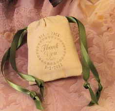 10 Wedding Favor Bags  Hand stamped  by CottageCandies on Etsy, $15.00