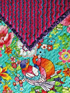 Floral Cut Chenille Blanket