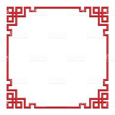 red chinese pattern seem border frame, illustration Chinese Background, Arte Linear, Boarder Designs, Asian Quilts, Interior Design Presentation, Chinese Crafts, Doodle Frames, Asian Cards, Graph Paper Art
