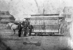Horse drawn street car.  1325-003-206 2887n.  From the General Collection at the Delaware Public Archives.  www.archives.delaware.gov