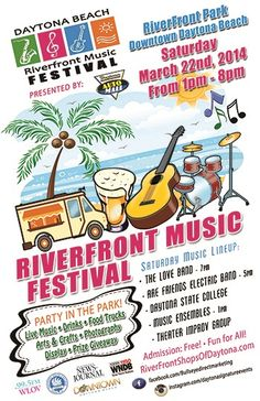 Riverfront Music Festival Downtown Daytona Beach FL.