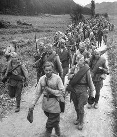 Soviet troops in Korea October 1945