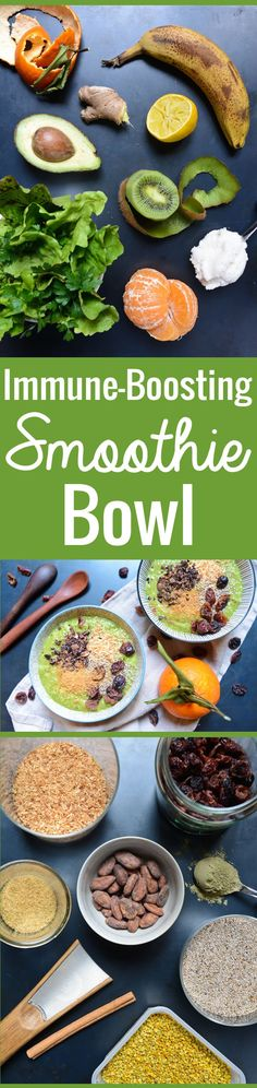 An easy recipe for a fabulous green smoothie bowl, delicious and zesty ...
