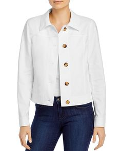 $648.0. LAFAYETTE 148 Jacket Donna Button-Front Jacket #lafayette148 #jacket #clothing Collarless Jacket, Linen Jackets, Lafayette 148, Jackets Online, Jackets For Women, New York, Buttons, Clothes, Coats